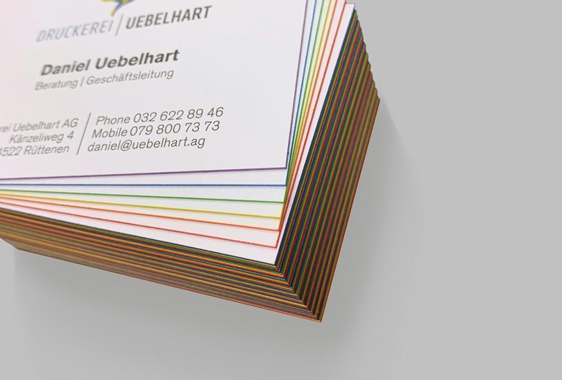 Visitenkarten mit Farbschnitt